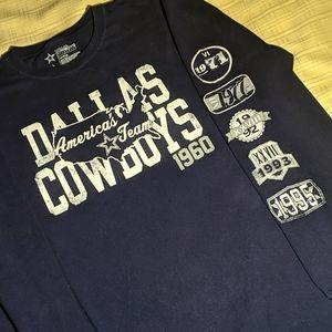 Dallas Cowboys Long Sleeves Shirt Tee Navy L